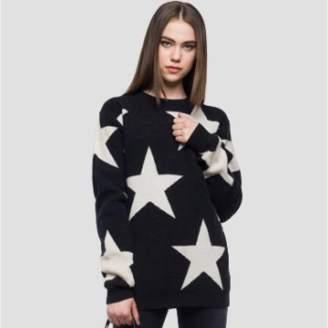 Replay Stars Jumper - XS - Black/White