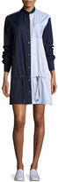 Public School Masika Colorblocked Button-Front Shirtdress