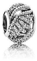 Pandora Majestic Feathers, Clear CZ in 925 Sterling