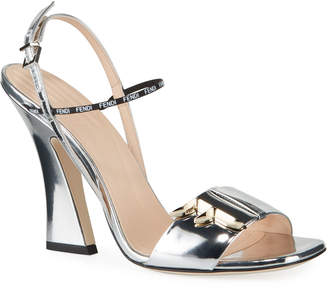 Fendi F Freedom Metallic 105mm Sandals