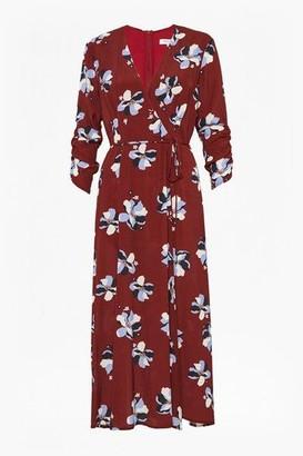 Great Plains Rachel Floral 3 4 Sleeve V Neck Dress - 10
