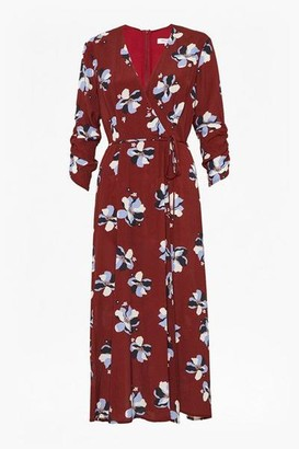 Great Plains Rachel Floral 3 4 Sleeve V Neck Dress - 8
