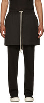 Rick Owens Black Kilt Trousers