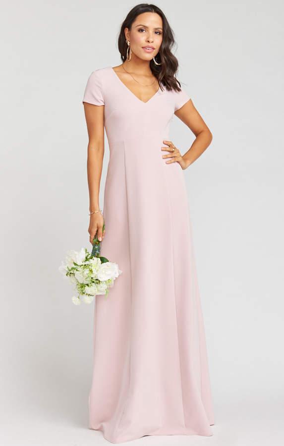 Show Me Your Mumu Geneva Gown ~ Vintage Rose Stretch Crepe