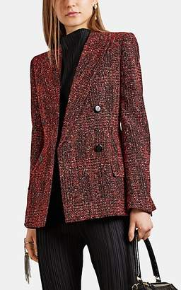 Givenchy Women's Tweed Double-Breasted Blazer - Red