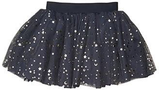HUXBABY Gold Star Tulle Skirt (Infant/Toddler) (Ink) Girl's Skirt