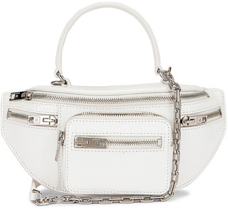 Alexander Wang Attica Soft Mini Top Handle Bag in White   FWRD
