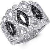Lafonn Black & White Simulated Diamond Filigree Ring
