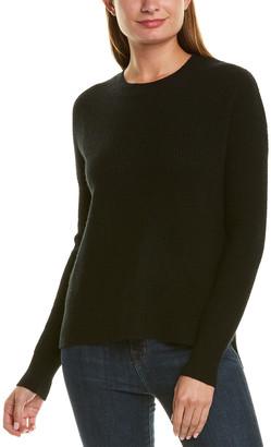 Amicale Cashmere Thermal Stitch Cashmere Sweater