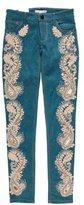 Alice + Olivia Jane Low-Rise Jeans