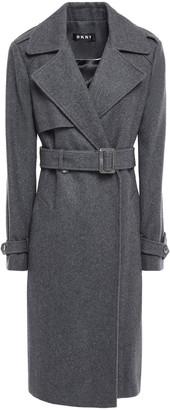 DKNY Belted Wool-blend Felt Coat