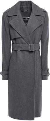 DKNY Wool-blend Felt Trench Coat