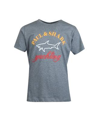 Paul And Shark Junior Original Logo T-shirt Colour: GREY, Size: Age 8