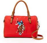 U.S. Polo Assn. Chester Embroidered Satchel