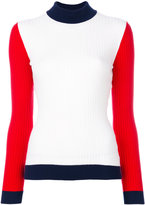 Courreges colour block sweater - women - Cotton/Cashmere - 2