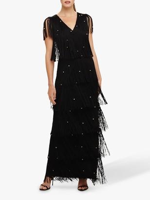 Phase Eight Kandice Fringe Dress, Black