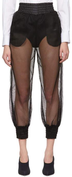 Dolce & Gabbana Black Mesh Lounge Pants