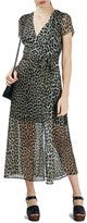 Topshop Leopard Print Wrap Dress