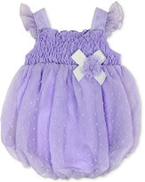 Baby Essentials Smocked Bubble Romper, Baby Girls (0-24 months)