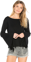 Blank NYC BLANKNYC Bell Sleeve Top in Black