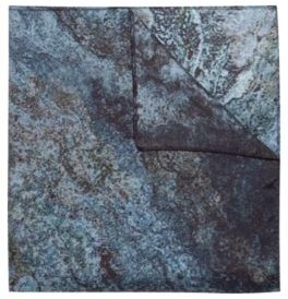 HUGO BOSS Twill Pocket Square With Collection Themed Marble Print - Blue