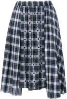 No.21 embellished tartan skirt