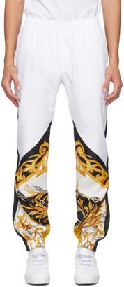 Versace White Barocco Sweatpants