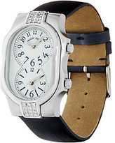 Philip Stein Teslar Diamond Accent Leather Strap Signature Watch