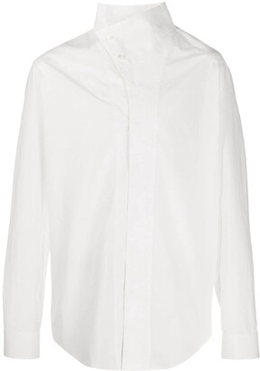 Balmain Asymmetric Collar Shirt