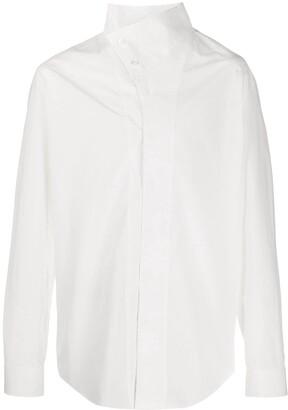 Balmain Asymmetric Collar Shirt