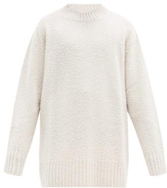 Maison Margiela Distressed Oversized Wool Sweater - Beige