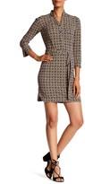 Donna Morgan 3/4 Length Printed Jersey Shirt Dress