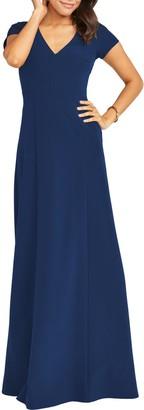 Show Me Your Mumu Geneva V-Neck A-Line Gown