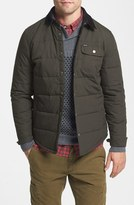 Brixton 'Cass' Quilted Shirt Jacket with Corduroy Collar