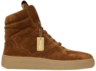 Human Recreational Services Brown Suede Mongoose Sneakers