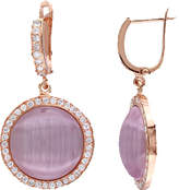 Cat Eye Women's Amour Light Purple Cabochon Earrings - Light Purple Earrings