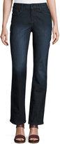 NYDJ Marilyn Straight-Leg Beaded-Pocket Jeans, Blue