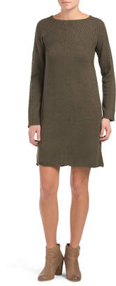 Boat Neck Sweater Dress