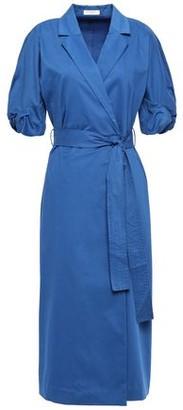Equipment Anitone Stretch-cotton Sateen Midi Wrap Dress