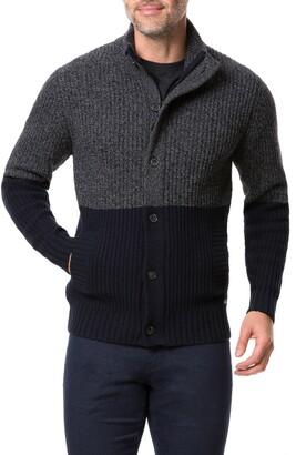 Rodd & Gunn Lake Heron Colorblock Wool Blend Fisherman Sweater