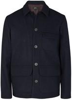 A.p.c. Eisenhower Dark Blue Wool Jacket