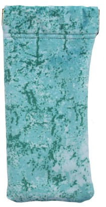 Abstract Blue Velvet Glasses Case