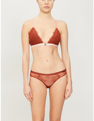 LOVE Stories Hazel front-closing lace and stretch-jersey bra