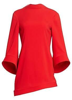 Brandon Maxwell Women's Bell Sleeve Asymmetric Shift Dress