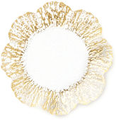 Vietri Rufolo Glass Canapé Plate, Gold