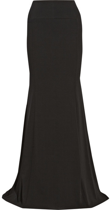 Roland Mouret Aries double-faced stretch-crepe maxi skirt
