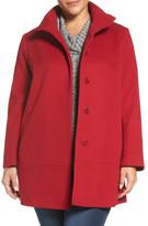 Fleurette Loro Piana Wool Car Coat (Plus Size)
