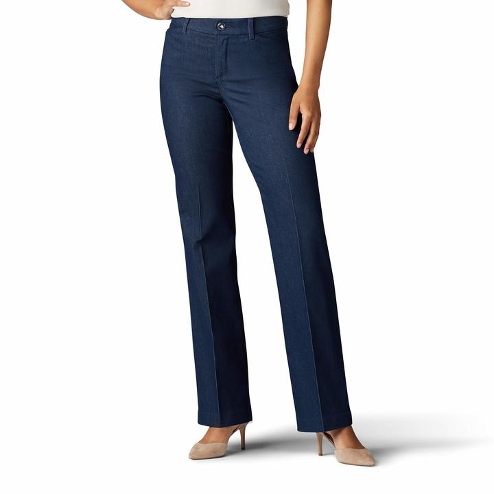 Thumbnail for your product : Lee Women's Petite Flex Motion Regular Fit Trouser Pant