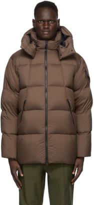 Goldwin Brown Down Hooded Spur Coat