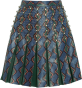 Elie Saab Printed Watersnake Mini Skirt